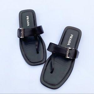 Prada | Brown Leather Women's Sandal Size 6